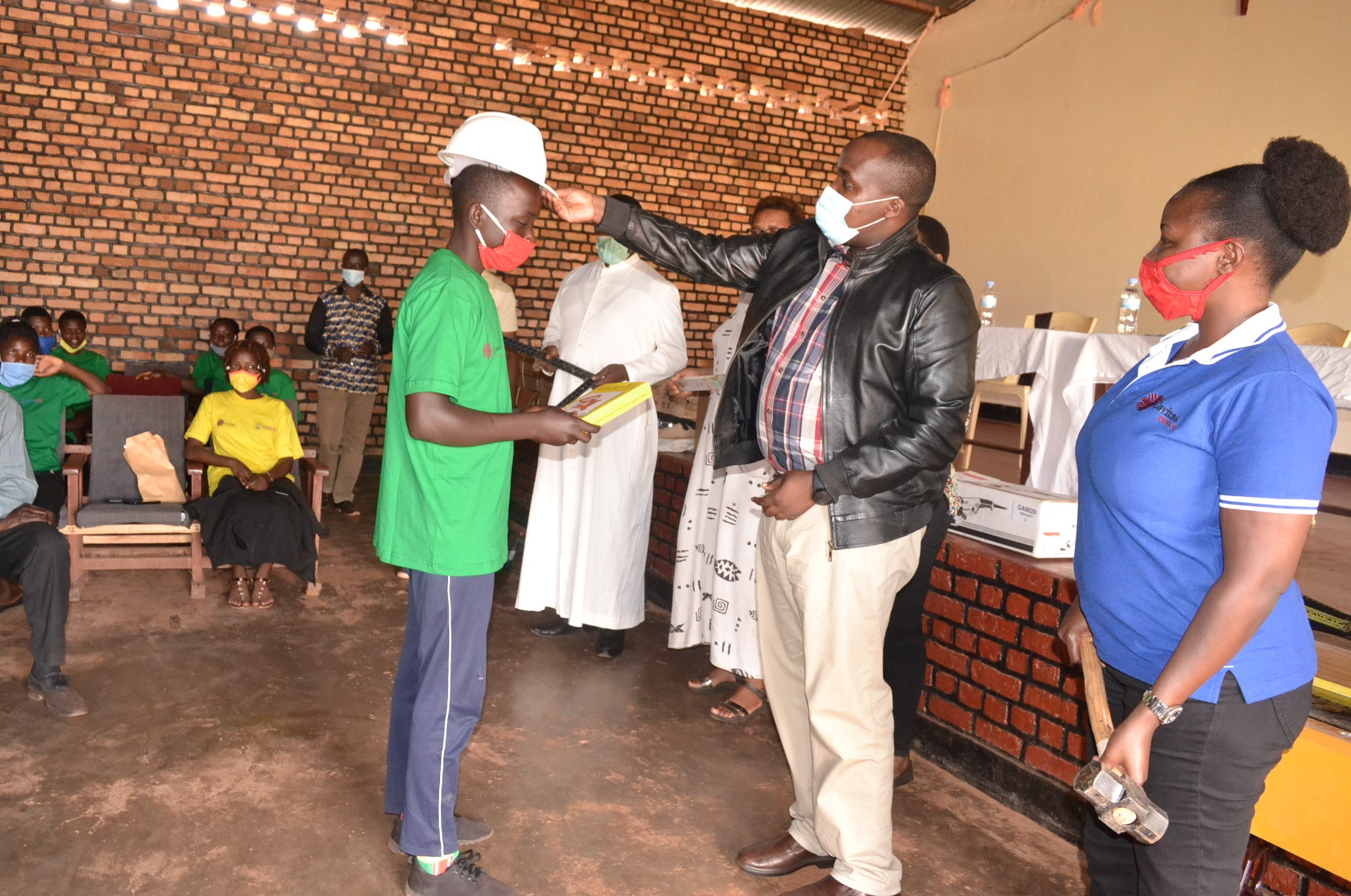 vocational training courses were given to young people